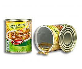 Dosensafe Erasco Linseneintopf mit Würstchen
