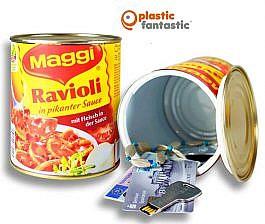 Lata escondite con compartimento secreto / Raviolis Maggi