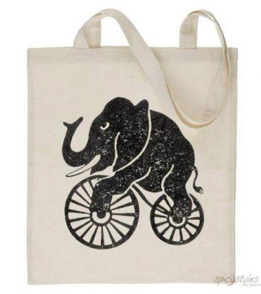 Totebag Elefant-Vintage