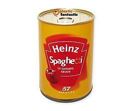 Lata escondite con compartimento secreto / Heinz Spaghetti