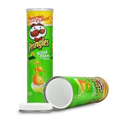 Pringles Chips with secret compartment -green