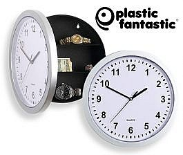 Clever wall clock with hidden safe
