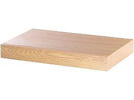 Wandregal mit versteckter Schublade, 40 x 5 x 25 cm, Nussbaum-Optik